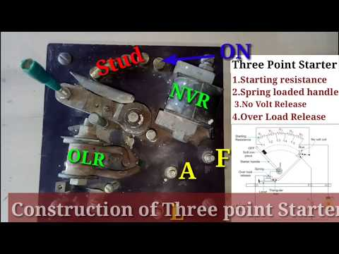 Construction of Three point starter real demonstration in tamil