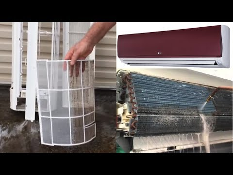 How To Clean LG Split Air Conditioners At Home   AC Filter Cleaning  