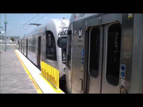 Metro Los Angeles: Gold Line Trains Arriving and Departing Union Station