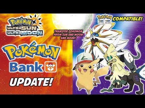 Pokemon Bank Updated to Support Pokemon Ultra Sun and Pokemon Ultra Moon!
