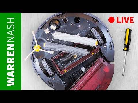 Cleaning Roomba 980 LIVE - How long does it take? Warren Nash