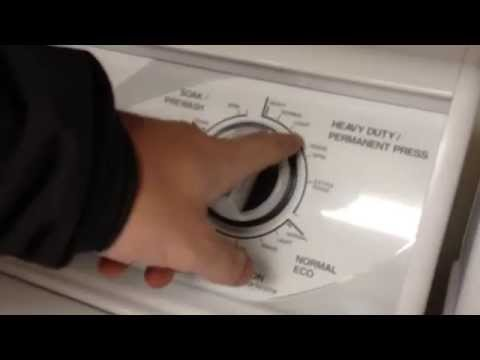 Speed Queen Washer/Dryer Operation, Quick Introduction