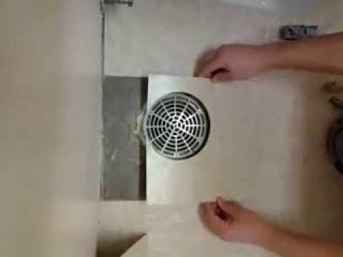 How Mark And Cut VCT Around Drain