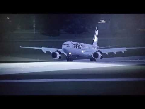 Landing Zurich,  Iran Air.  Airbus A330 FSX(2)