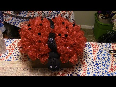 Carmen's DollarTree Ladybug Wreath
