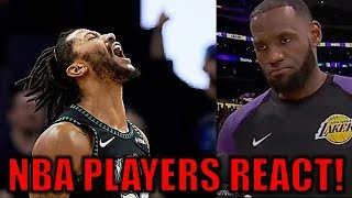 b0a528dda NBA PLAYERS REACT to Derrick Rose s 50-POINT GAME!