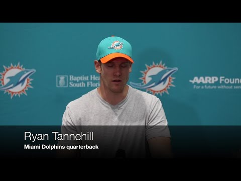 Video: Dolphins' Ryan Tannehill returns after sitting out last year with a knee injury.