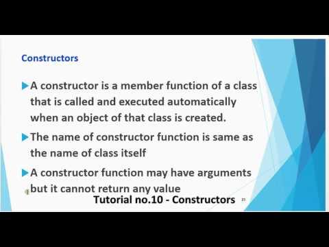 Tutorial no 10   Constructors By Khezer Mustafa