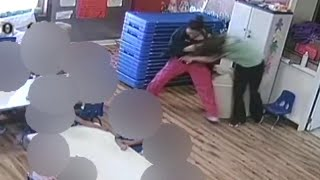 Employees fight in front of room full of children at New Mexico preschool