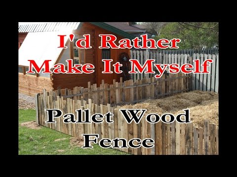 Build a Garden/Rabbit Fence Using Pallet Wood and Reclaimed Lumber