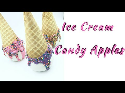 HOW TO MAKE A ICE CREAM CANDY APPLE DIPPED IN CHOCOLATE