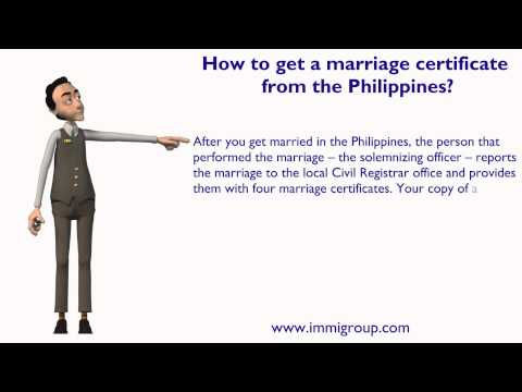 How to get a marriage certificate from the Philippines?