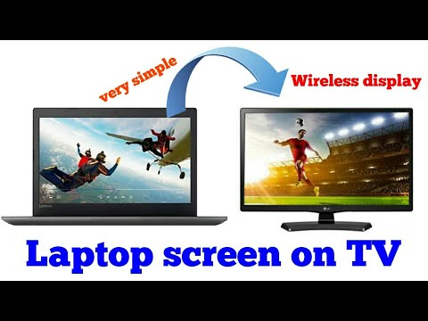 How to connect laptop to tv wireless display Lenovo IdeaPad 320 to Sony Bravia tv