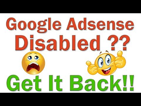 How To Get Back Disabled Adsense Account   Adsense Account Disabled For Invalid Activity