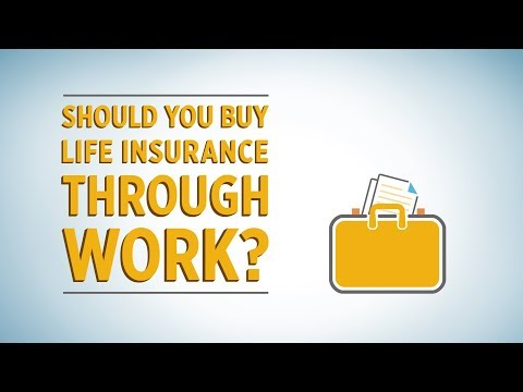Buying life insurance at work