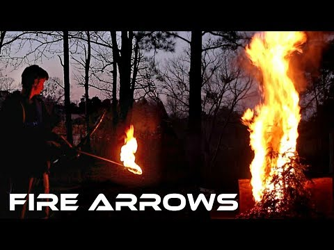 How to Make FIRE ARROWS (best way to dispose of a Christmas Tree ever!!)