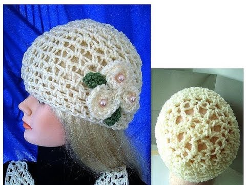 CROCHET SUMMER MESH HAT, adult size, how to diy, free written pattern, moss stitch