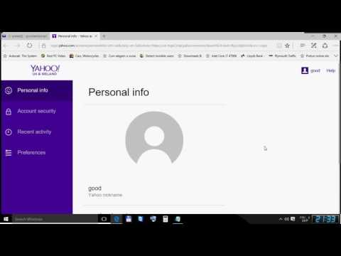 How to change Yahoo Password september 2016