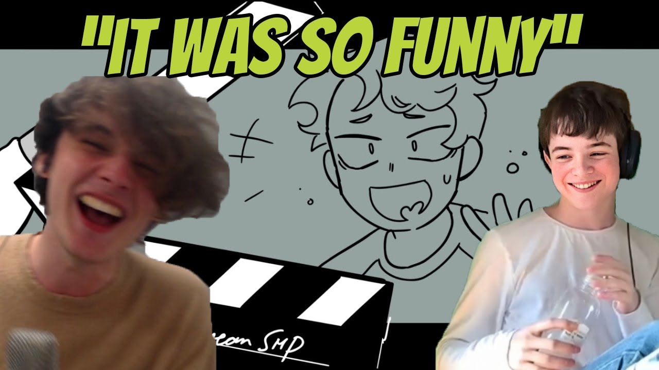 """Wilbursoot and Tubbo Reacts to """"Dream SMP Bloopers"""" By SAD-ist"""