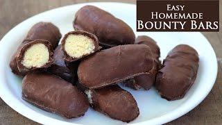 Homemade Raw Bounty bars| Very easy&quick Bounty chocolates at home kids recipe