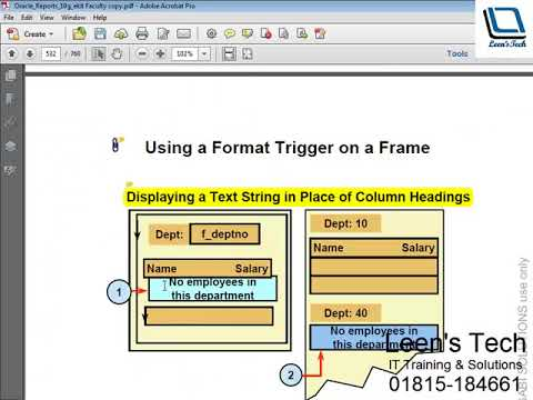Oracle Reports 10g Tutorial in Bangla: Using Layout Triggers