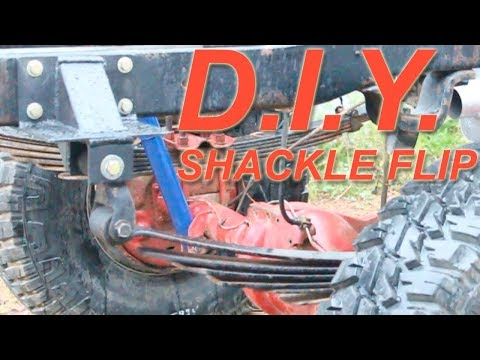 How to build a shackle flip suspension lift (CHEAP!!)