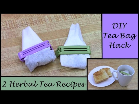 DIY Tea Bag HACK  (How to Make Your Own Tea Bags & 2 of My Favorite Recipes)