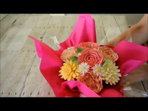Cupcake bouquet in under a minute