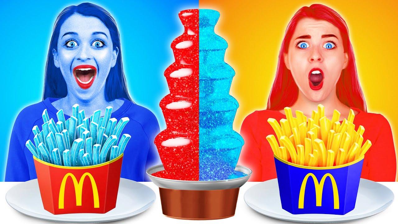 HOT vs COLD CHOCOLATE FONDUE CHALLENGE!