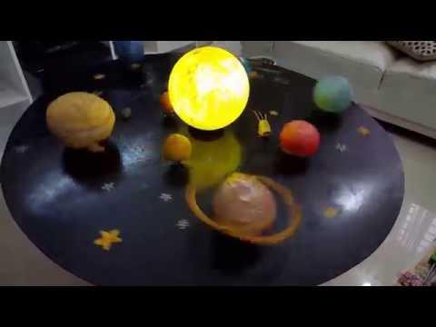 Science project, Solar System Model, School project, Jafirah, Class iii, BIT