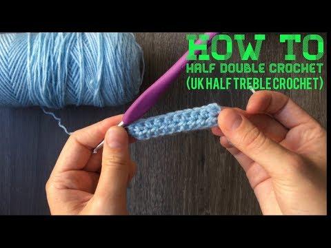 Half Double Crochet (UK Half Treble Crochet) - HOW TO CROCHET FOR BEGINNERS - Lesson 5