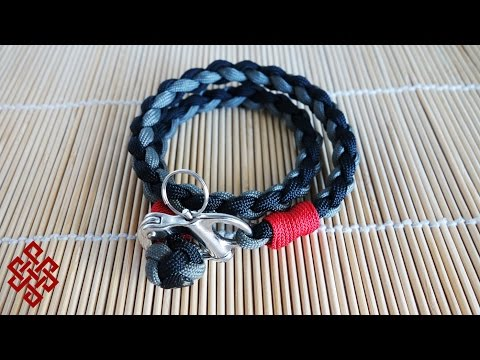 How to Make a 4 Strand Round Braid with Snap Shackle Paracord Bracelet Tutorial