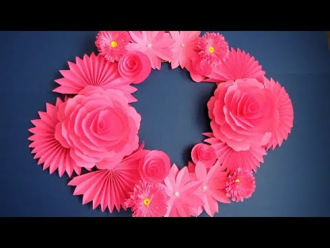 DIY. Simple Home Decor. Wall Decoration. Hanging Flower. Paper Craft Ideas #22