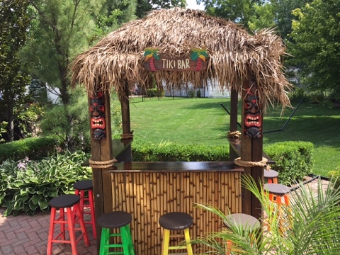 How to restore a bamboo tiki bar