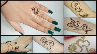 Diy Henna Mehndi Tattoo Tattoo Design Beautiful R S Letter