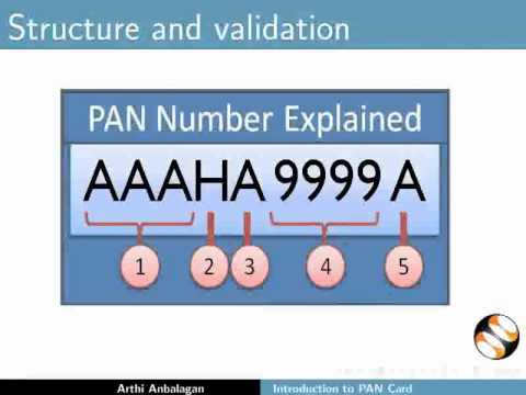 Introduction to PAN Card - Tamil