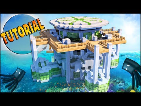Minecraft: How To Build a Modern UNDERWATER HOUSE Tutorial [ How to make ] 2017