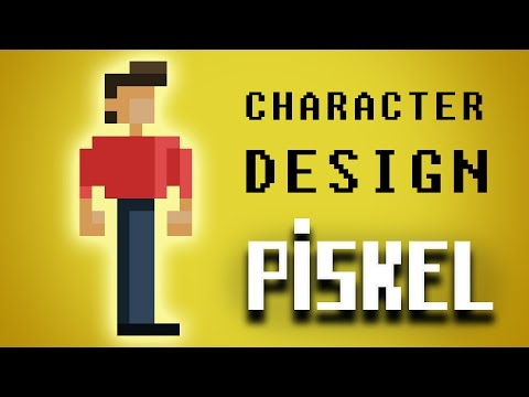 Video Game Pixel Art Character DesignTutorial: Learn how to create a pixel character in Piskel