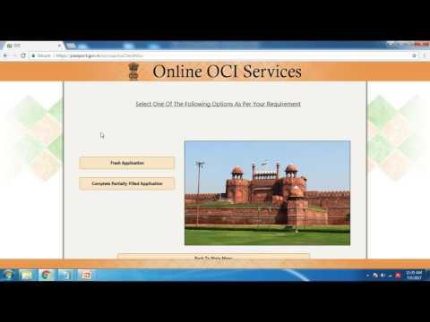 India - Renew your OCI Card - In English