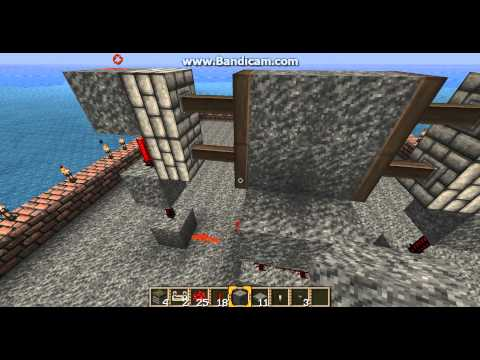 Minecraft: 2x2 piston door, pressure plates and/or button switch[HD]