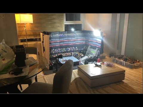 BUILDING HUGE WWE TOY ARENA IN LIVING ROOM | WWE FIGURE VLOG #1