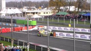 Valentino Rossi amazing overtake & near crash Monza Rally Show 2014