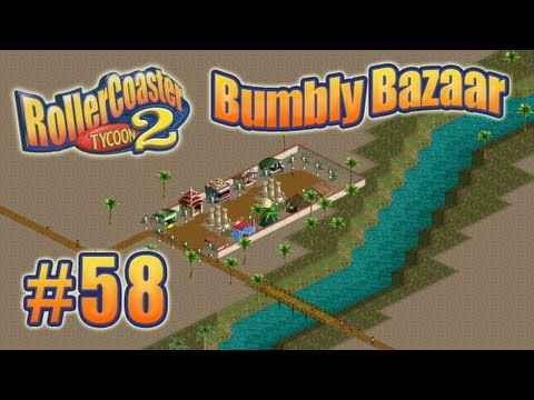 Let's Play RollerCoaster Tycoon 2 (Bumbly Bazaar) - Ep. 58: COLORS MAKE MY FINGERS HURT