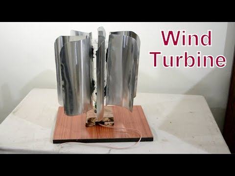 How to Make a Wind Turbine - easy way to Make a cool Science Project