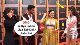 Jhanvi kapoor feeling Shy And Bad for Radhika madan Dress Jio Mami movie mela