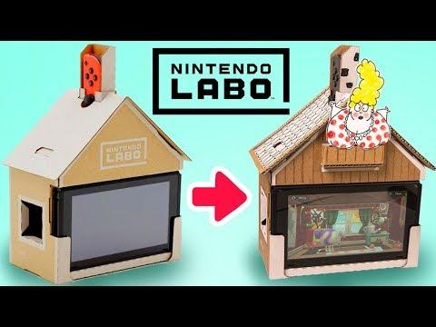 Decorating the Nintendo Labo House | DIY Cardboard Craft Ideas