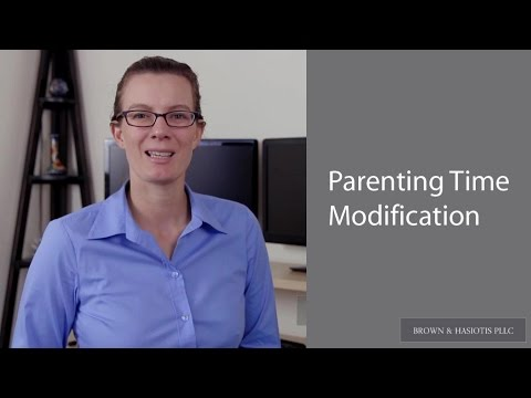 Brown & Hasiotis: PLLC: Parenting Time Modifications