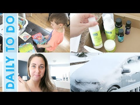 Daily to Do   KonMari Declutter, Cleaning House & Snow Fun!