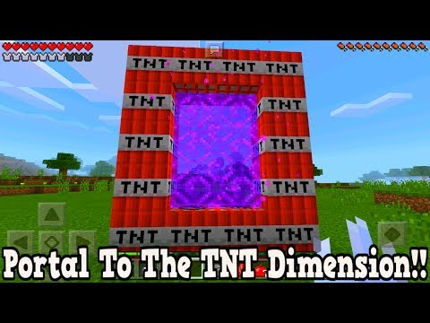 Minecraft Pe - Portal To The TNT Dimension - Mcpe Portal To The TNT!!!
