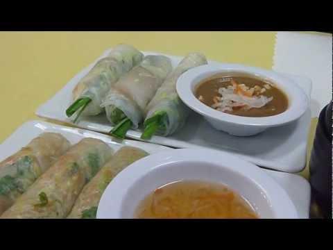 Spring Rolls at Bo De Tinh Tam Chay (Bolsa): Goi Cuon and Bi Cuon